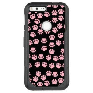 Dog Paws, Traces, Paw-prints - Pink Black OtterBox Commuter Google Pixel XL Case