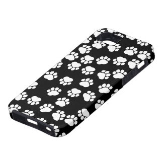Dog Paws Traces Paw-prints - White Black iPhone 5 Cases