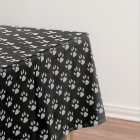 Dog Paws, Traces, Trails, Paw-prints - Black Grey Tablecloth