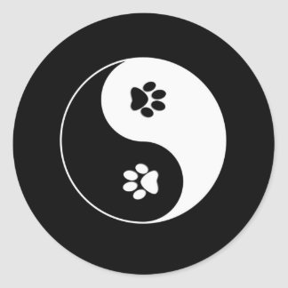 Dog Paws Yin Yang Sticker