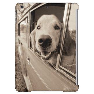 Dog Peeking Out a Car Window iPad Air Cover