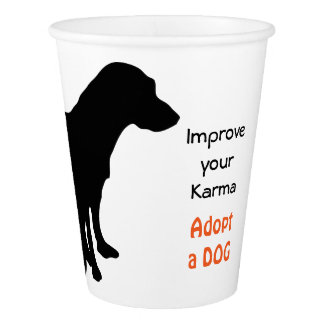 Dog Pet Adoption Paper Cup