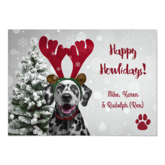 Dog Pet Funny Merry Christmas Cards