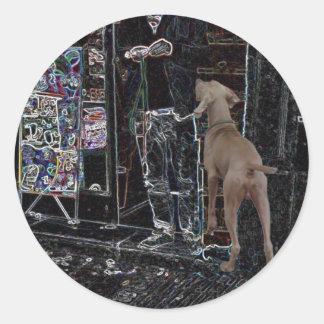 Dog / Pet Walker Sitter Groomer Etc Round Sticker