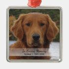 Dog Photo In Loving Memory Name Year Christmas Metal Ornament