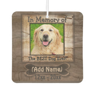 Dog Photo Memorial Car Air Freshener