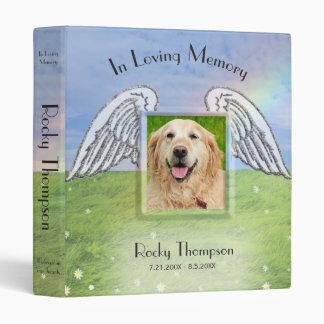 Dog Photo Memorial Rainbow Bridge Vinyl Binders