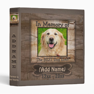 Dog Photo Memorial Vinyl Binder