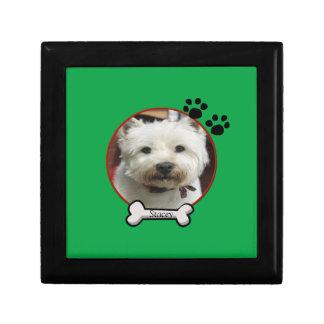 Dog Photograph Tile Box Gift Boxes