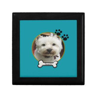 Dog Photograph Tile Box Keepsake Boxes
