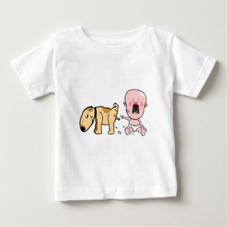 Dog Pisses On Baby-Funny T-shirt