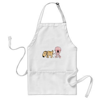 Dog Pisses On Baby-Funny T-shirt Standard Apron