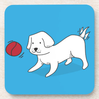 Dog playing with a Ball Coaster