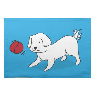 Dog playing with a Ball Placemat