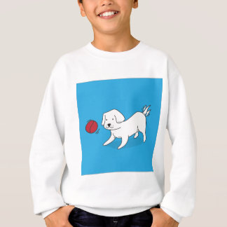 Dog playing with a Ball Sweatshirt