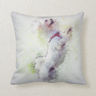 Dog Poodle Pet Family Room Pillow