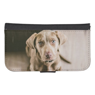 Dog portrait samsung s4 wallet case
