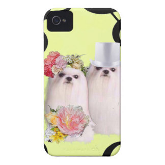 Dog portrait with bass clef iPhone 4 Case-Mate cases