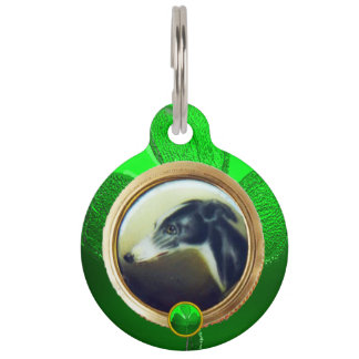 DOG PORTRAITS / Irish Greyhound Photo Template Pet Tag
