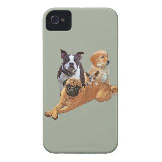 Dog posse with cat iPhone 4 Case-Mate case