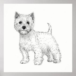 Dog Poster / Wall Art West Highland Terrier