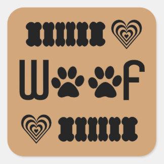dog prints stickers