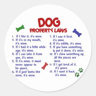 DOG Property Laws 2 Sticker