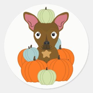 Dog Pumpkin Picking Fall Sticker LexiDog