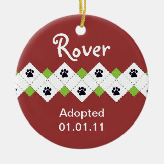 Dog/Puppy Adoption Announcement Ceramic Ornament