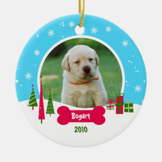 Dog / Puppy Christmas - Winter Wonderland Ceramic Ornament