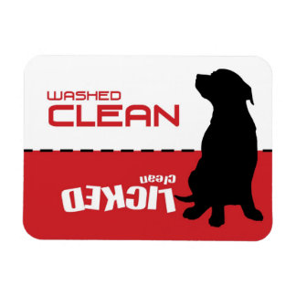 Dog Puppy Dishwasher Magnet - Licked Clean