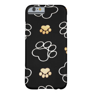Dog Puppy Paw Prints Gifts for Dog Lovers Barely There iPhone 6 Case