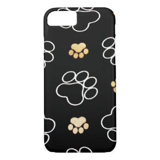 Dog Puppy Paw Prints Gifts for Dog Lovers iPhone 7 Case