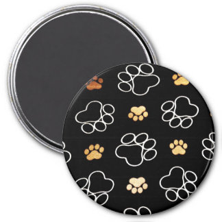 Dog Puppy Paw Prints Gifts for Dog Lovers Magnet