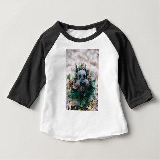 Dog Puppy Pet Animal Christmas Green Garland Baby T-Shirt