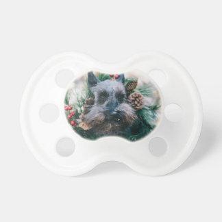 Dog Puppy Pet Animal Christmas Green Garland Pacifier