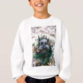 Dog Puppy Pet Animal Christmas Green Garland Sweatshirt