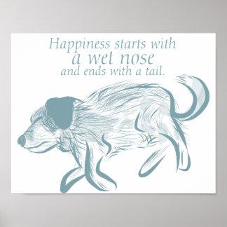 Dog Quote Art Print, Dog Art Print, Puppy Wall Art
