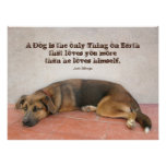 Dog Quote Poster