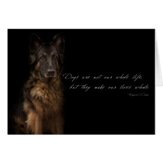 """""""dog quotes"""" card"""