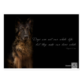 """dog quotes"" postcard"