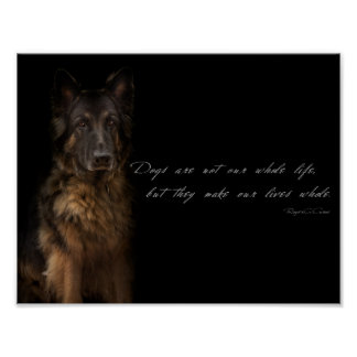 """dog quotes"" poster"