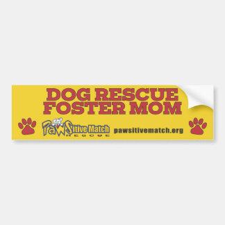 Dog Rescue Foster Mom Bumper Sticker