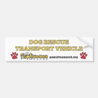 Dog Rescue Transport Vehicle Bumper Sticker