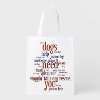 Dog Rescue Wordie Shopping Bag