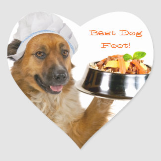 Dog Restaurant Heart Sticker