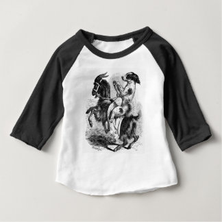 Dog Riding a Goat Baby T-Shirt
