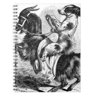 Dog Riding a Goat Notebooks