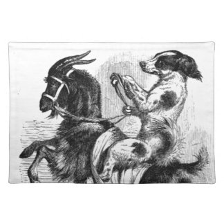 Dog Riding a Goat Placemat