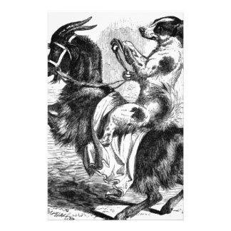 Dog Riding a Goat Stationery
